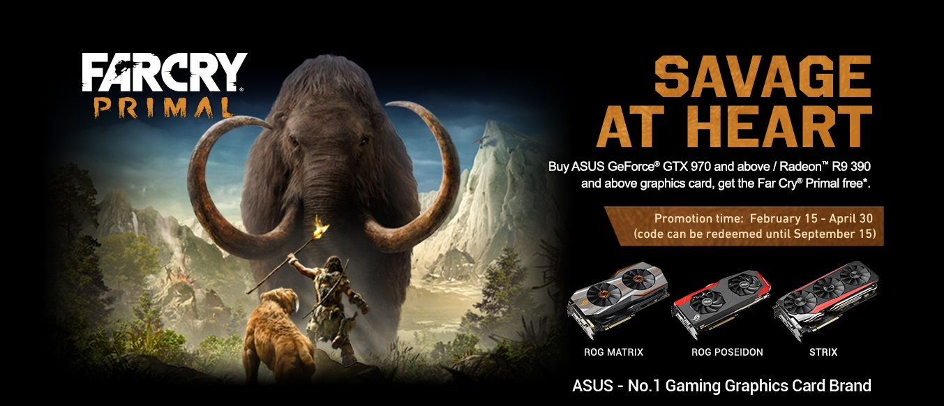 ASUS Graphics Card with Exclusive Far Cry Primal Game Bundle