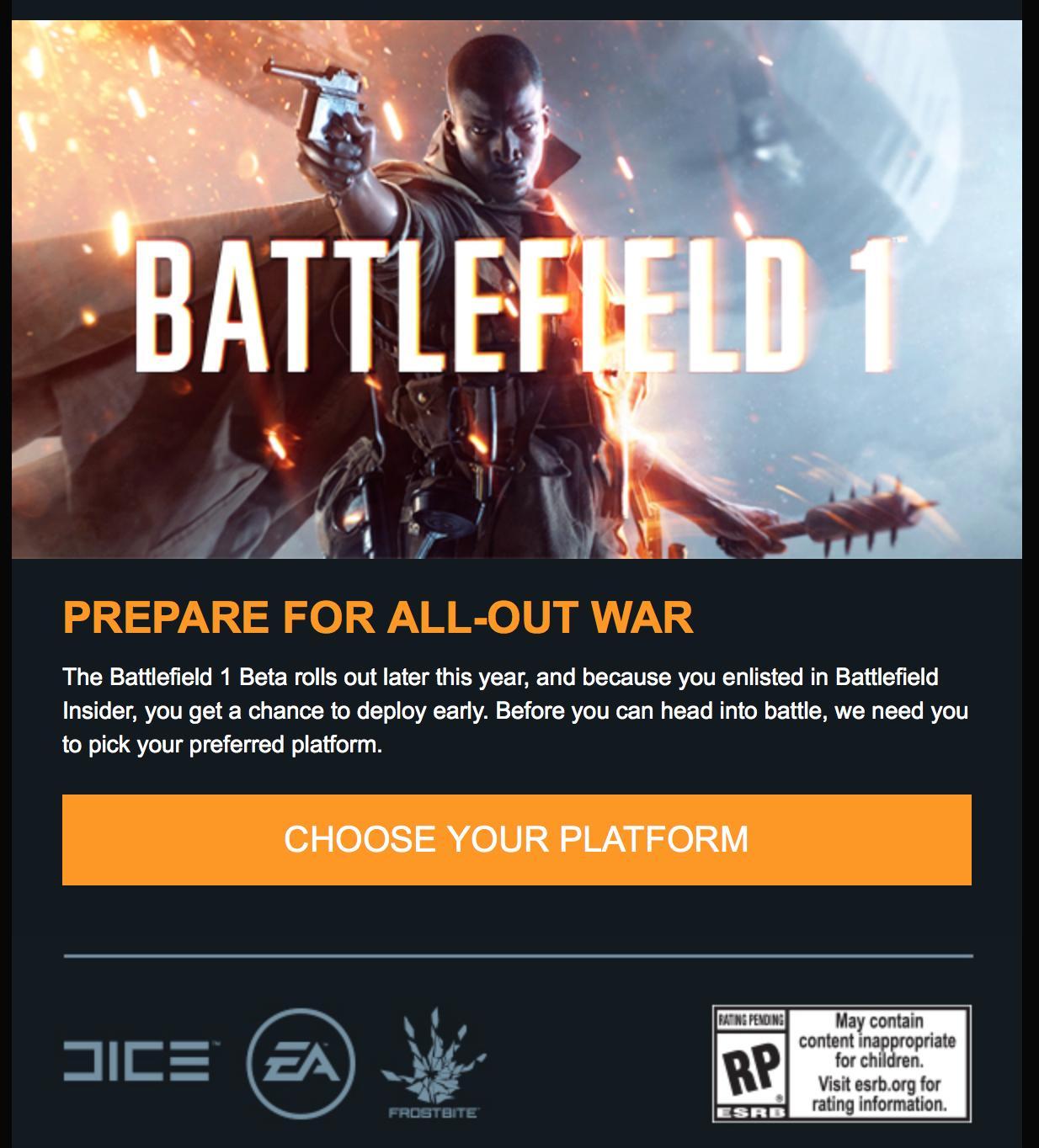 battlefield-1 béta