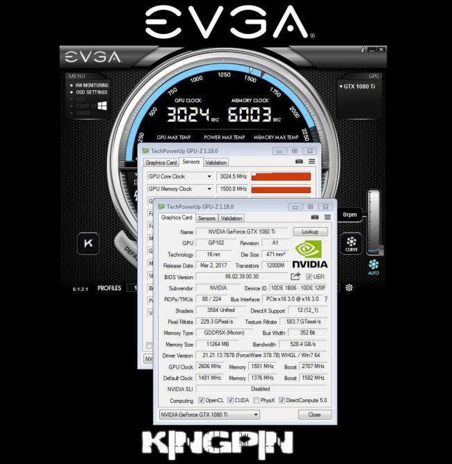 gtx 1080 kingpin rekord