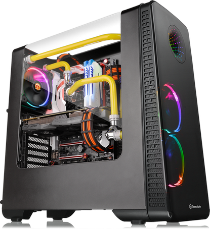 Thermaltake View 28 RGB Gull-Wing Window ATX Mid-Tower Chassis Series co...