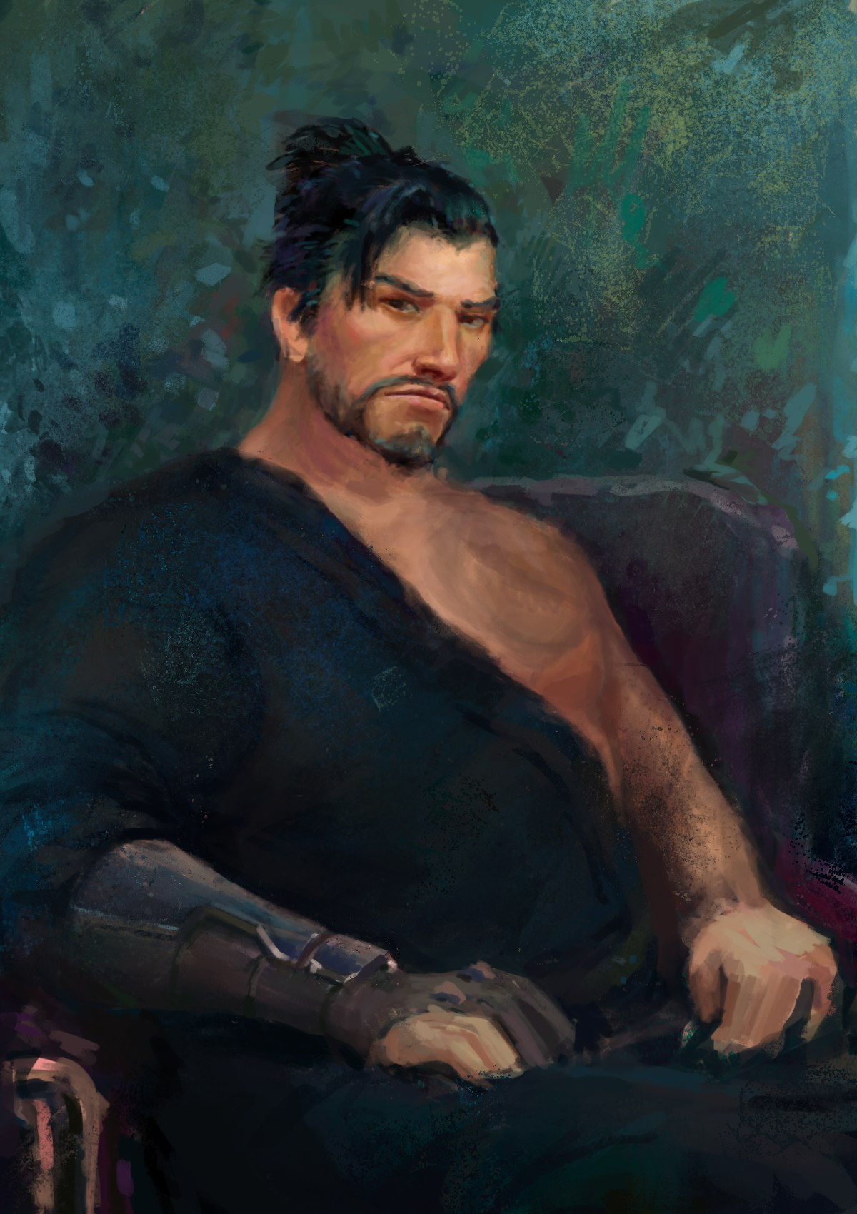 Portrait of painter Kramskoy x Overwatch